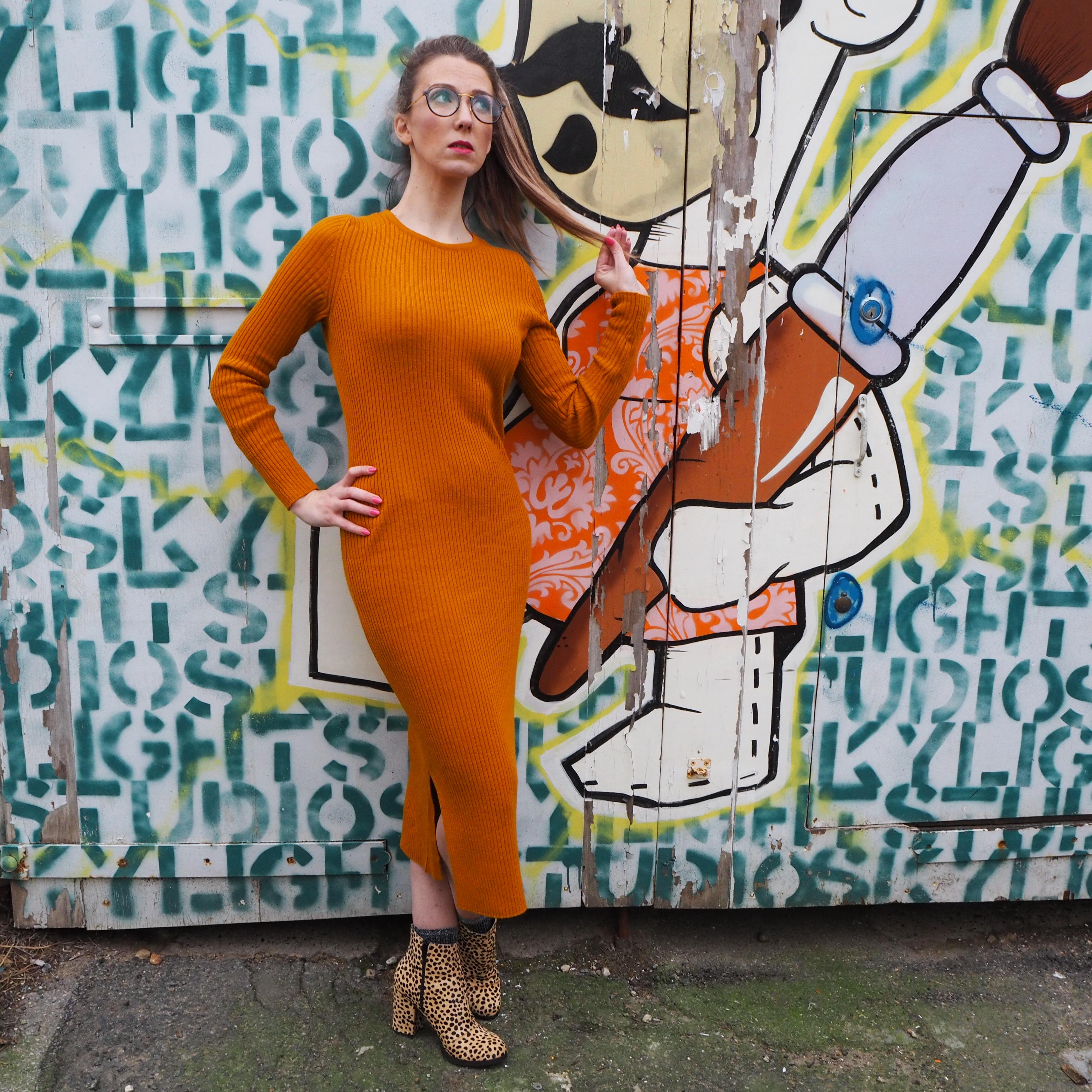 River Island knitted bodycon midi dress