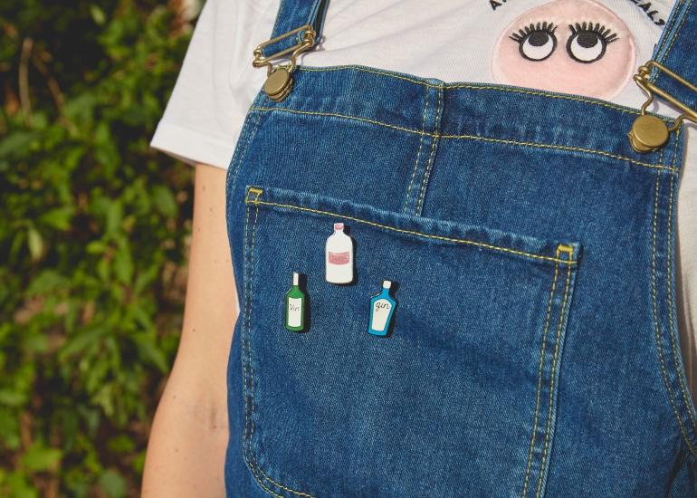 Drink Bottle Pin Badges