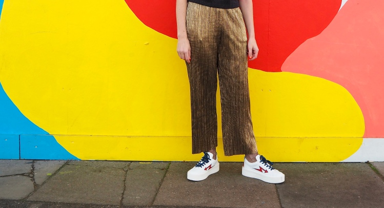 Topshop Gold Trousers