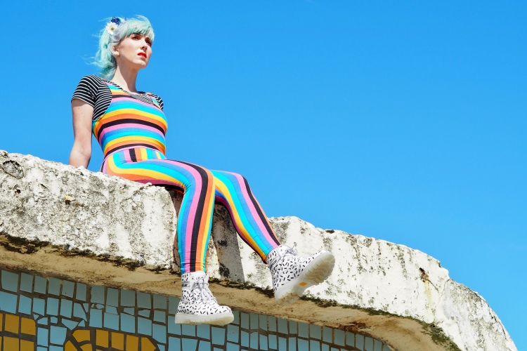 rainbow unitard